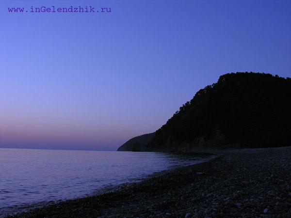 Геленджик 2007 сентябрь. Джанхот, вечерний пляж