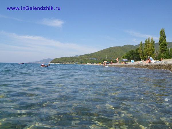 Геленджик 2010 сентябрь. Криница, пляж
